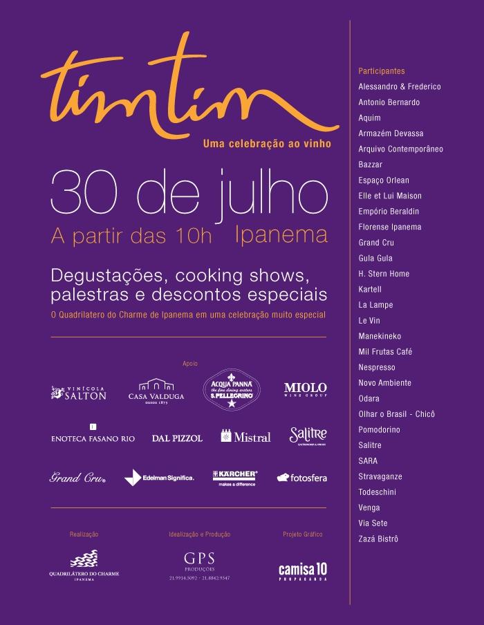 Um brinde – Evento Tim Tim – parte 1