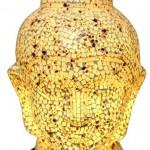 Luminaria Cabeca de Buda em mosaico de vidro deposito O GALPaO