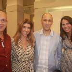 Caco Borges, Gorete Colaço e os anfitriões Ilan e Fabiana Omer