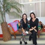 Patricia Mayer e Patricia Quentel no primeiro evento em Milão