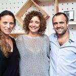 Cristina Alho entre os designers Alessandr a Clark e Nuno Franco de Sousa - foto 1