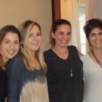 Juliana Tiziani, Eliane Couto, Cris Juliao, Margarida Vianna e Carolina Calmon Diab