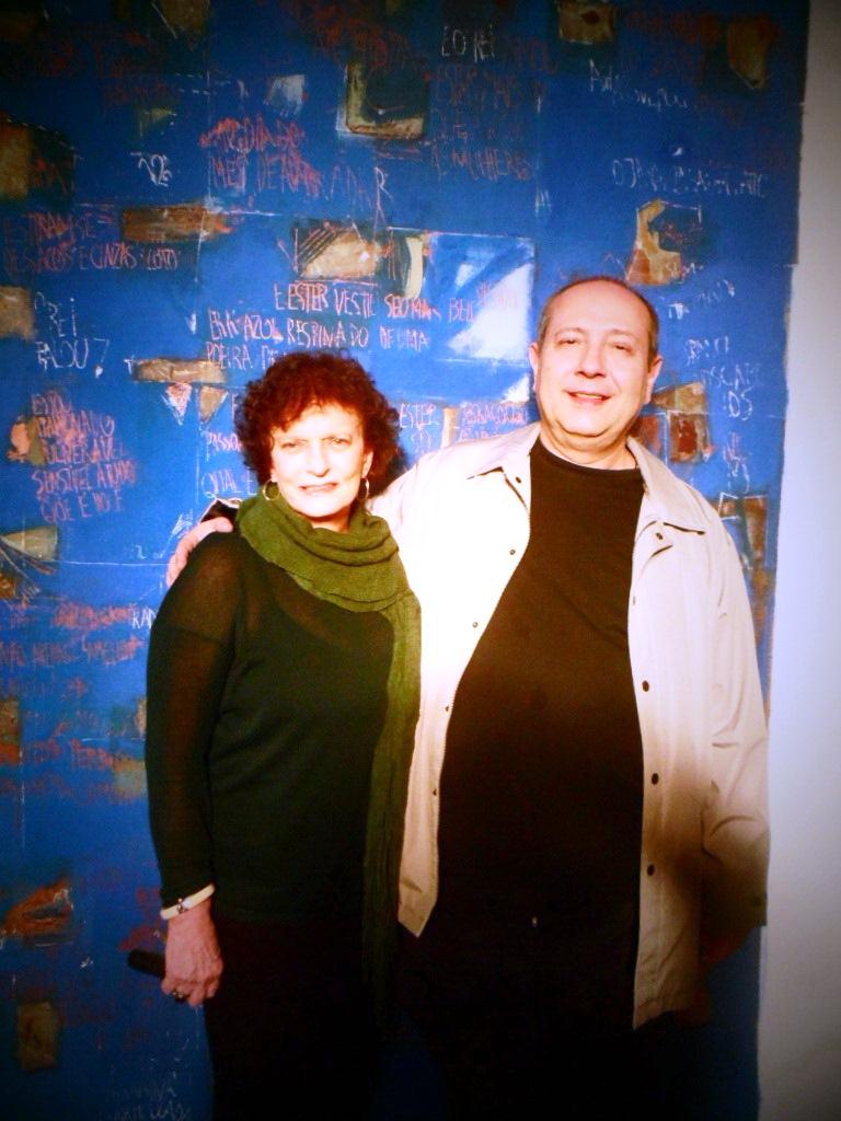 Cocchiarale e Lena Bergstein no Midrash