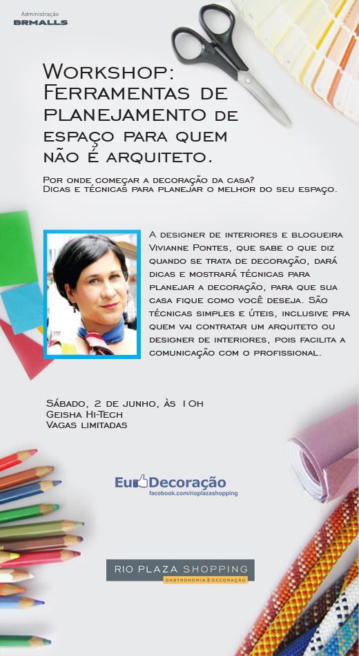 """""""Ferramentas de planejamento de espaço para quem não é arquiteto"""" com Vivianne Pontes."""