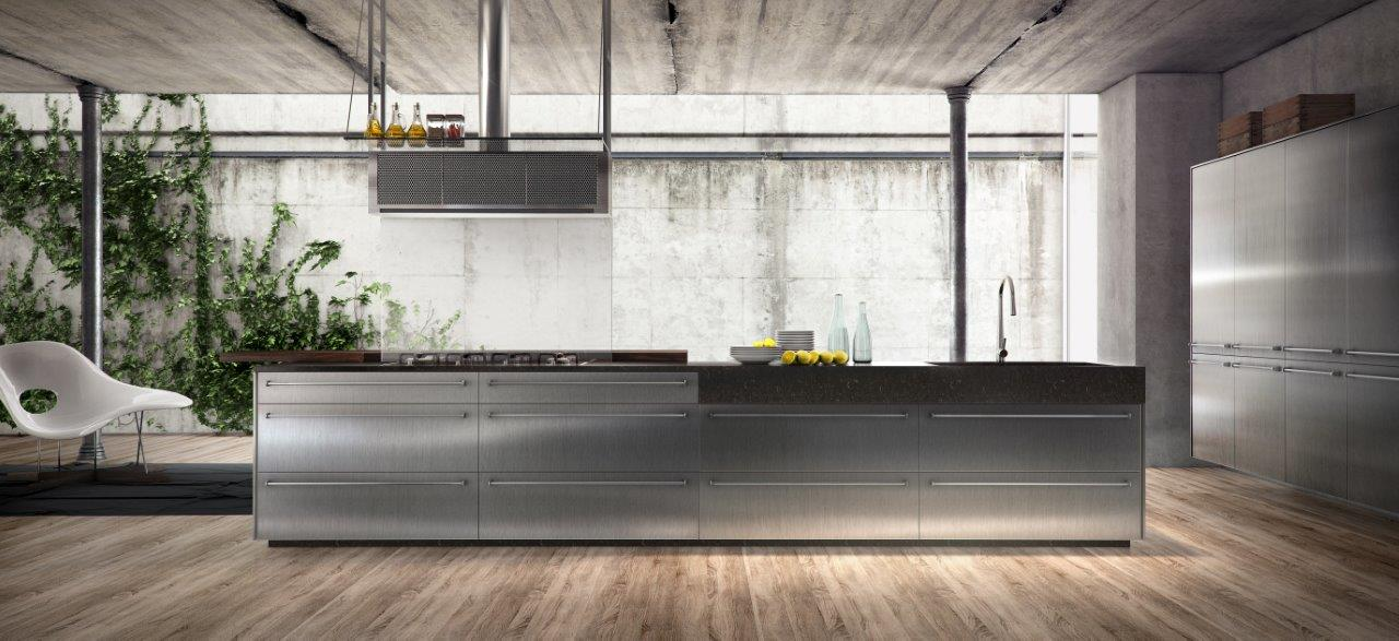 Cozinha de estilo industrial na Evviva Bertolini