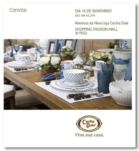Cecilia Dale inaugura loja no Rio