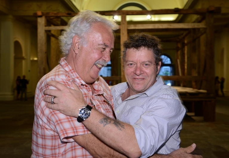 Afonso Tostes e Ivan Grilo na Casa França-Brasil
