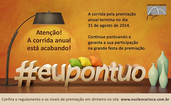 Último mês para pontuar no Núcleo Carioca de Decoração