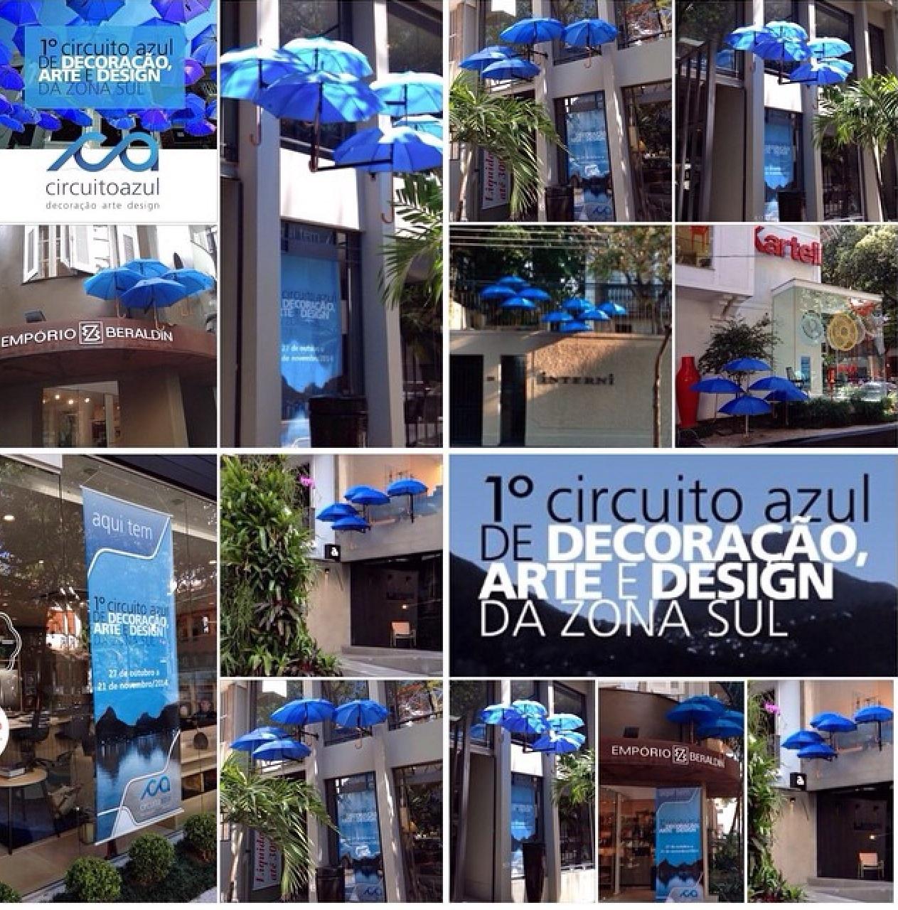 Os guarda-chuvas azuis que agitaram a decoração