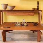 Aparador (tauari) e mesa de centro Slim (cumaru)