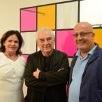 Nara Roesler, Daniel Buren e Emilio Kalil