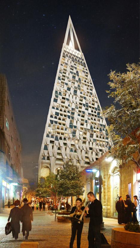 Daniel Libeskind projeta o segundo maior arranha céu de Jerusalém