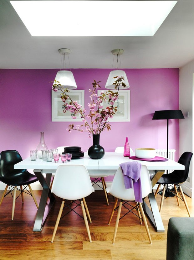 Décor do dia: jantar rosa e preto