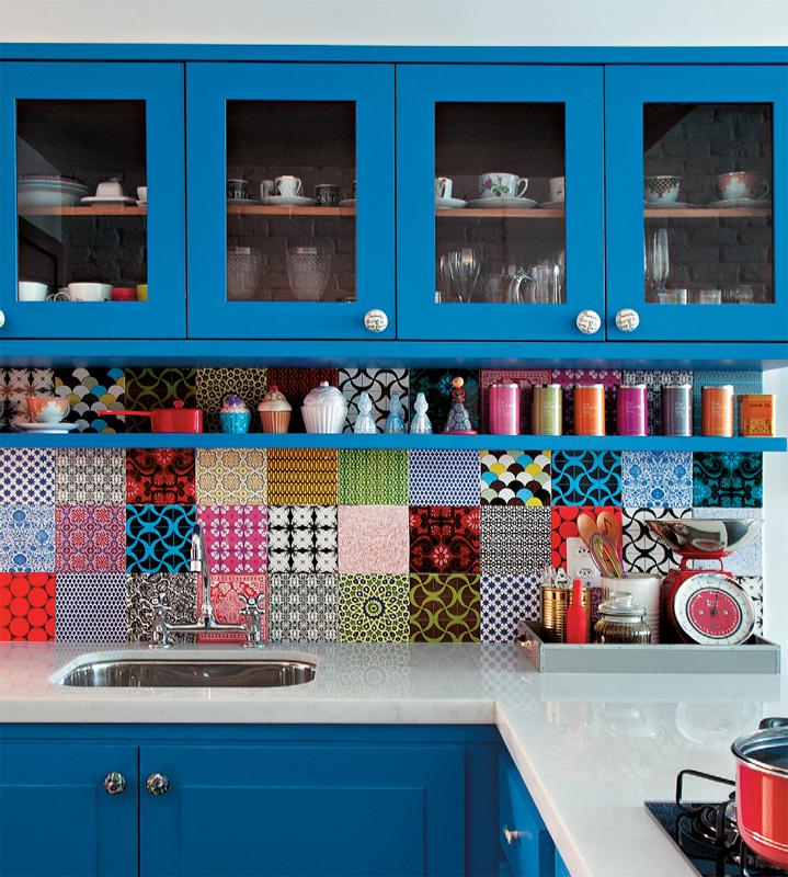 Inspiração do dia: cozinha super colorida