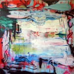Alvaro Seixas - Pintura Sem Tiulo (Por Bem ou por Mal) - 2015 - Oleo spray e esmalte s tela - 200x200cm