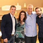 Alysson Pereira Claudia Santos Claudio Brandao e Diogo Vaz