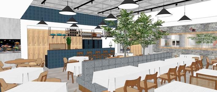 Projeto do novo restaurante Barracuda
