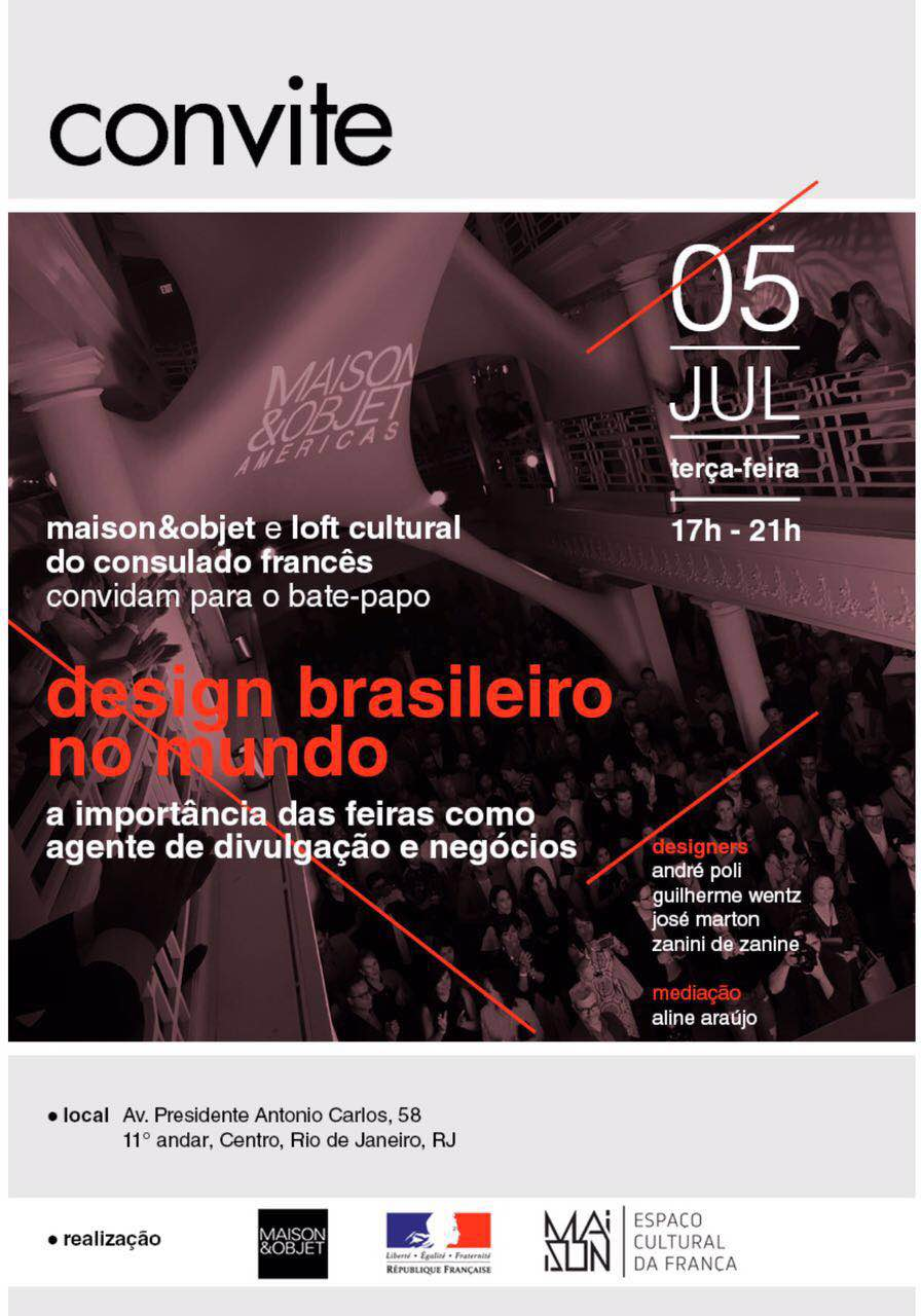 Maison & Objet promove bate-papo no Rio