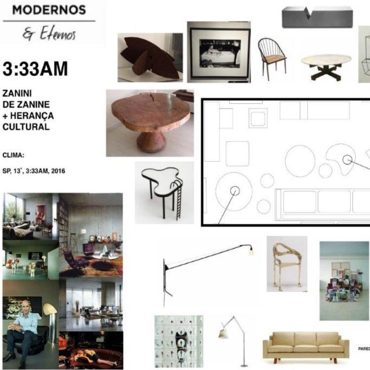 Zanini de Zanine estreia como designer de interiores na mostra Modernos Eternos