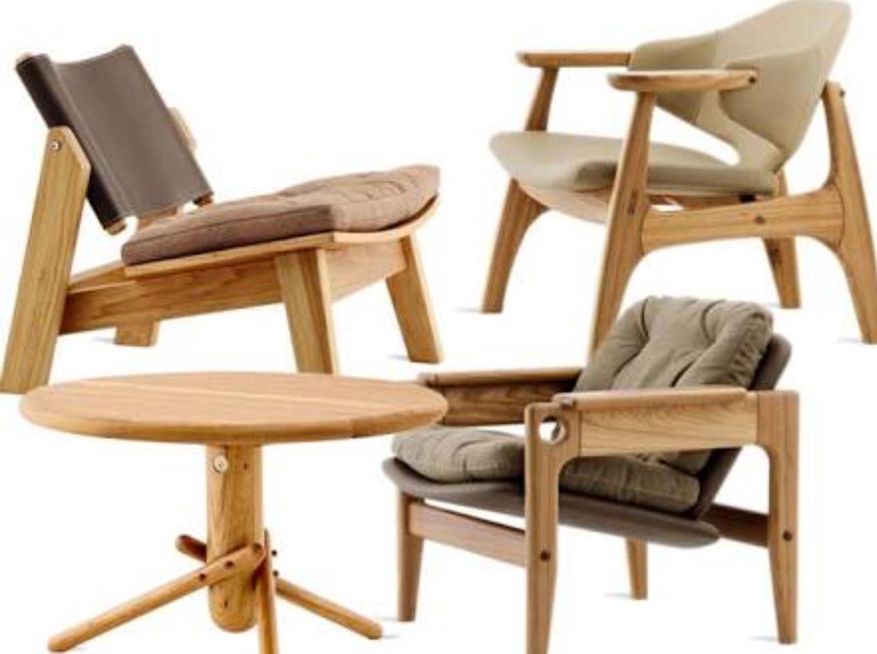 Lançamento de móveis inéditos dos designers Sergio Rodrigues e Fernando Mendes