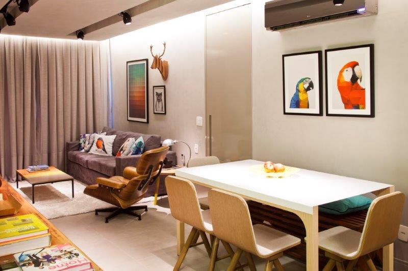 Apartamento de solteiro da PKB Arquitetura