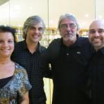 Christina Fellows e Caique com Leonardo Lattavo e Pedro Moog