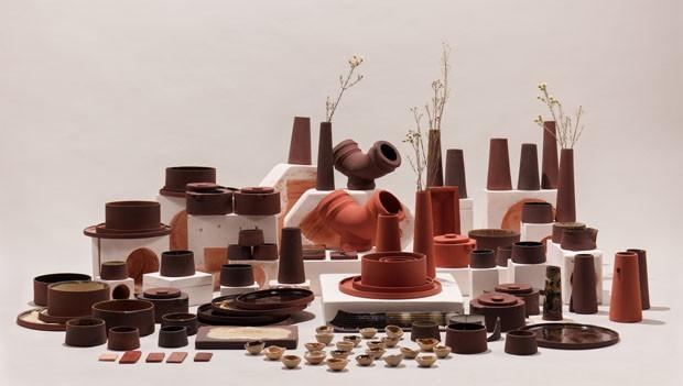 Designers transformam resíduos industriais em utensílios de cerâmica