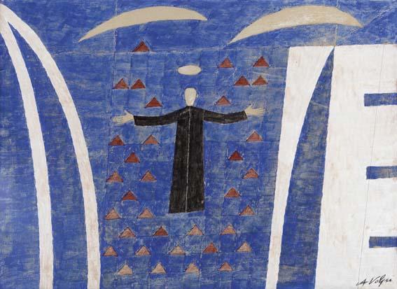 Exposição de Alfredo Volpi e Bruno Giorgi na Pinakotheke Cultural