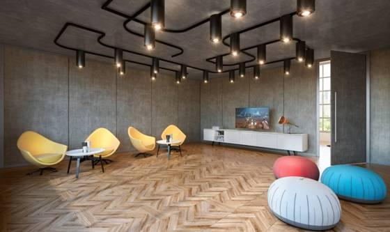 Linha Novitá divide e decora ambientes corporativos