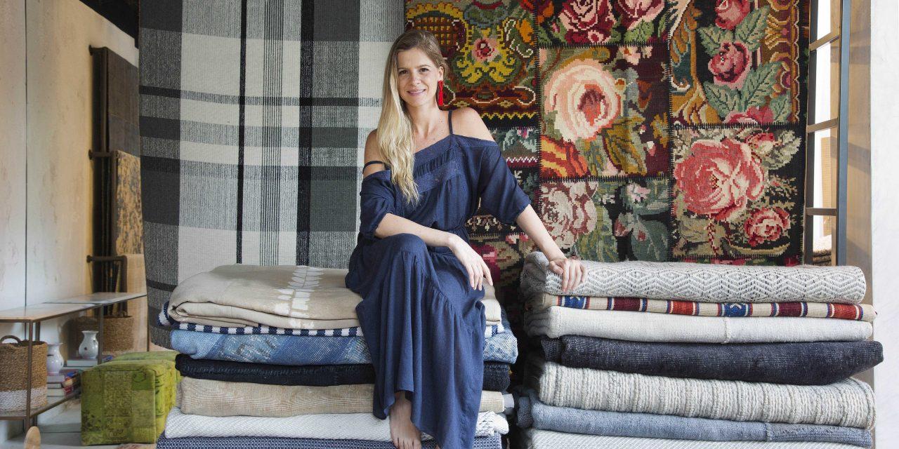 Larissa Allemand inaugura novo espaço de tapetes descolados