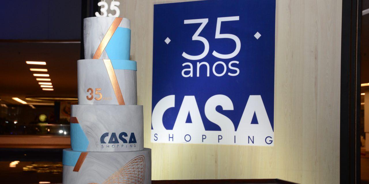 Festa dos 35 anos do CasaShopping homenageou também os ganhadores do concurso ELA Casa Premium