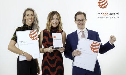 Roca recebe oficialmente o prêmio de design Red Dot Awards 2020