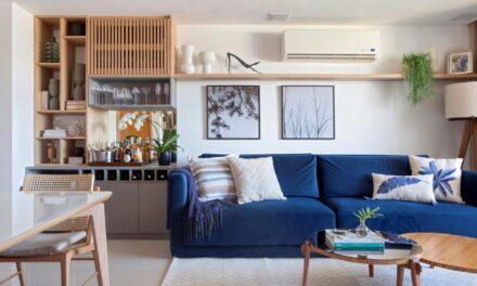 O escritório GG Arquitetura assina o décor de um apartamento em Itaboraí – RJ