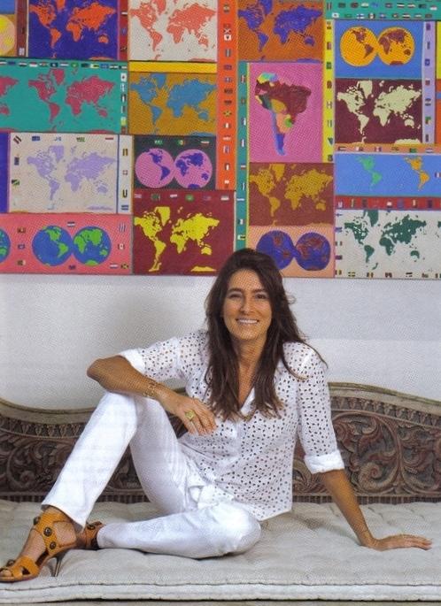Eu adoro… os tecidos pintados a mão da Mucki