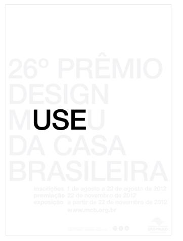 26º Prêmio Design MCB anuncia suas inscrições com peça vencedora do Concurso Cartaz