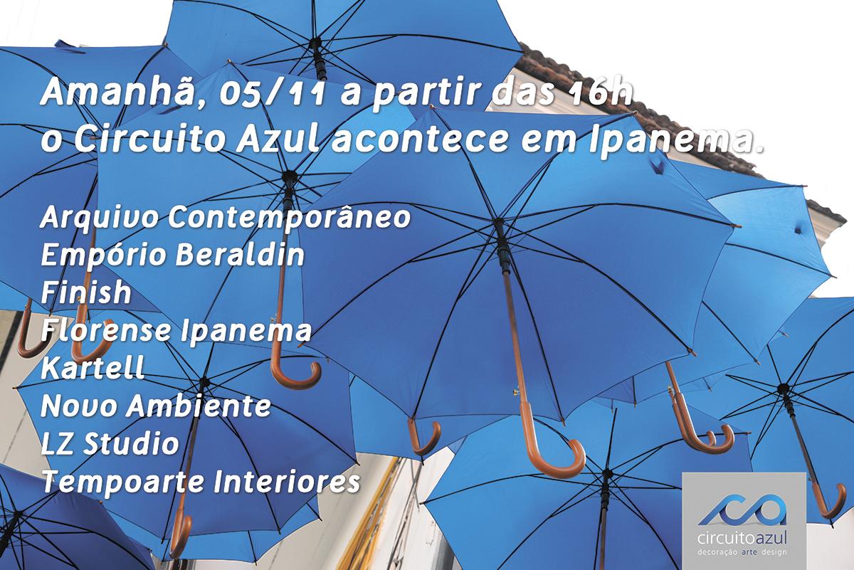 12 lojas de Ipanema recebem o Circuito Azul