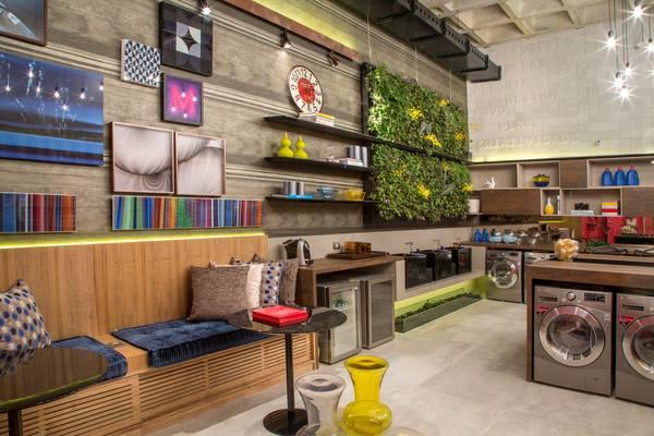 Laundry Lounge da Angela Meza Arquitetura & Design de Interiores