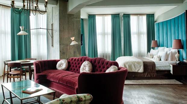 Décor do dia: quarto moderno e colorido