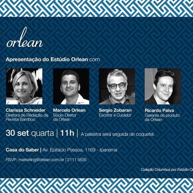 Orlean promove bate papo e coquetel na Casa do Saber em Ipanema