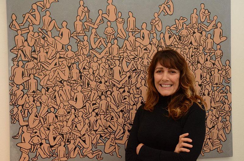 """Abertura da exposição """"Coletivos – Manchas e Contornos"""" de Myriam Glatt na Galeria Toulouse"""