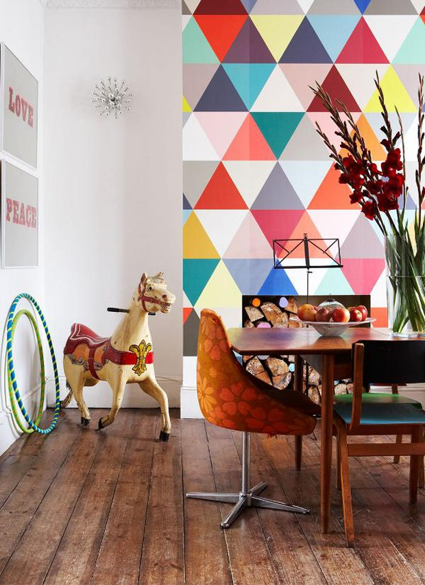 Décor do dia: sala de jantar colorida