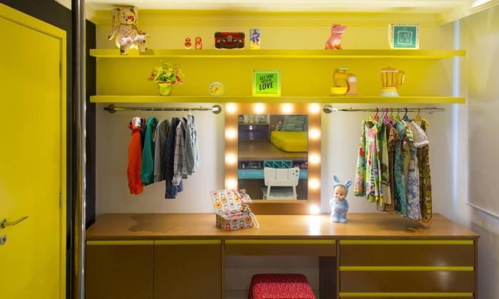 Elementos típicos de camarins são destaques em projetos de quartos infantis