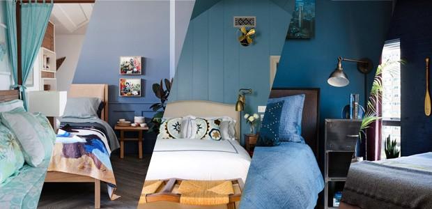 Top 20 quartos decorados com azul