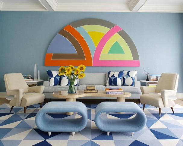 Décor do dia: sala vintage e colorida