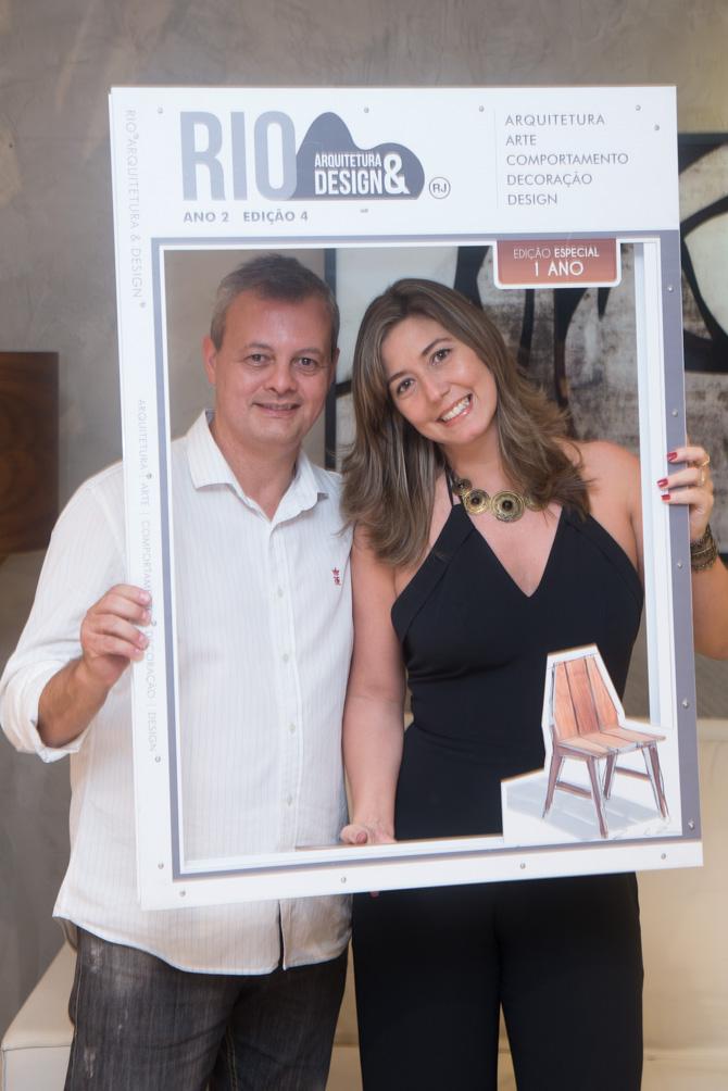 Leandro Braz comemora o lançamento da 4ª edição da Revista Rio Arquitetura & Design