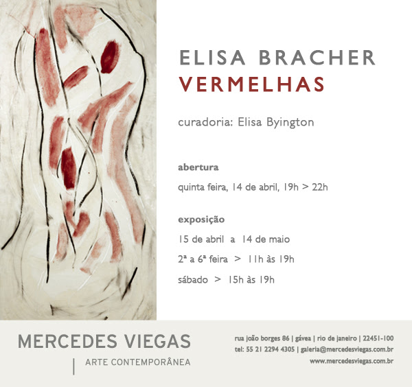 Elisa Bracher abre mostra na Mercedes Viegas Arte Contemporânea