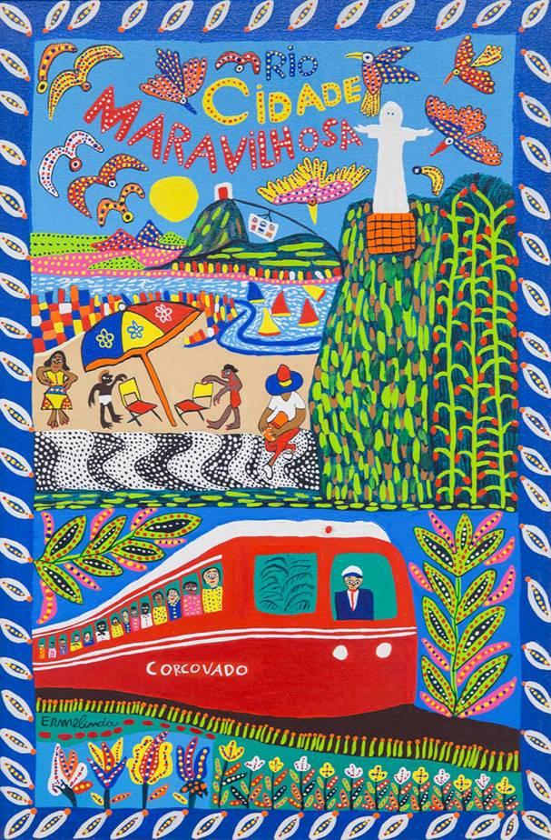 """Museu Internacional de Arte Naïf abre a exposição """"Rio, cidade-sede maravilhosa"""""""