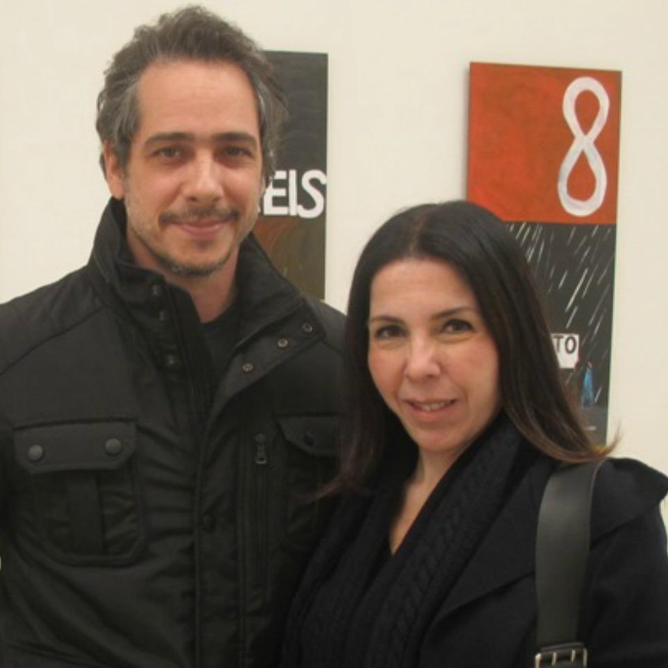 Paola Ribeiro prestigia abertura de exposição