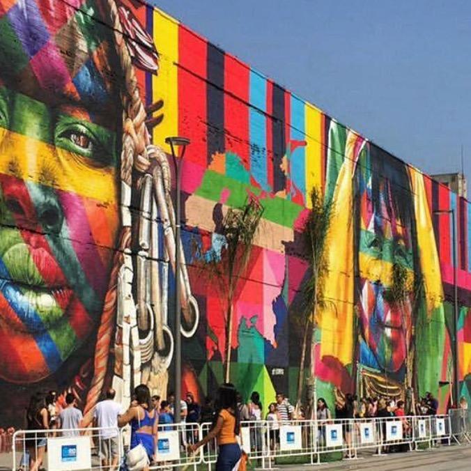 """O mural """"Etnias"""" de Eduardo Kobra entra para o Guinness Book"""