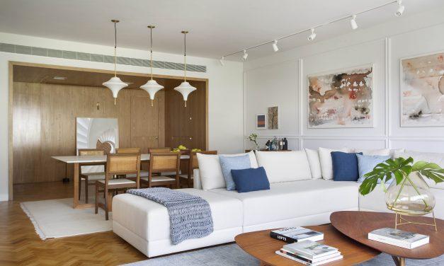 Beta Arquitetura assina projeto dereforma e decoração em apartamento dos anos 60, na Lagoa – Rio de Janeiro.